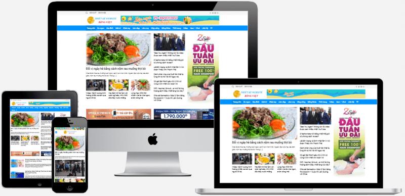 Thiết kế mẫu website tin tức ở Hải Phòng